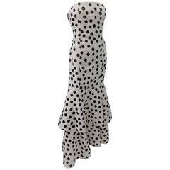 Oscar de la Renta famous polkadot  beaded gown Sarah J Parker wore in Vogue