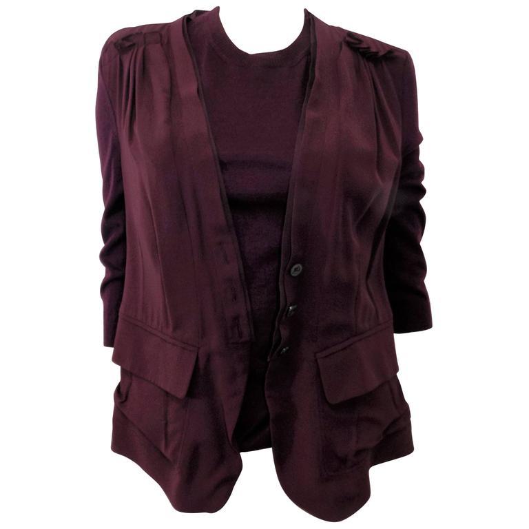 Nina Ricci silk and cashmere sweater set jaket/ top                            1