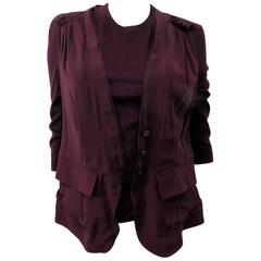 Nina Ricci silk and cashmere sweater set jaket/ top