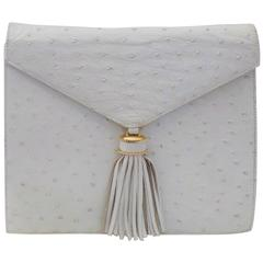 SISO Vintage white ostrich envelope clutch  - shoulder bag