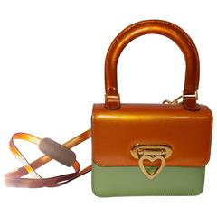 Moschino  vintage   structured color block bag