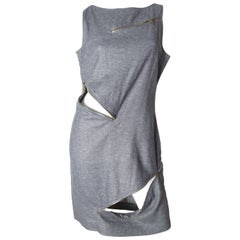 McQueen Grey Zipper Dress