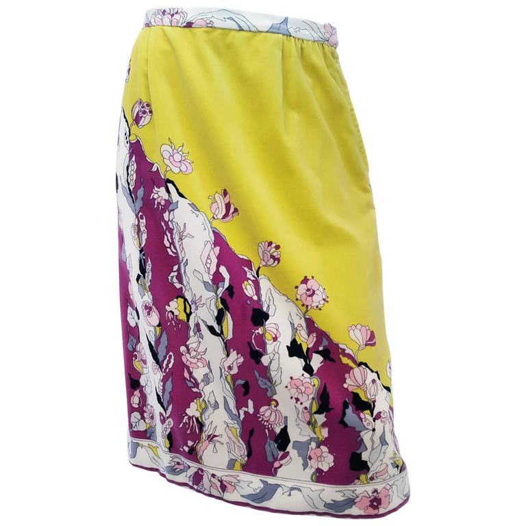 Velvet Pucci Skirt with Floral Print