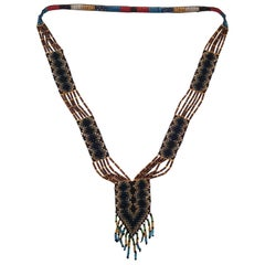 20s Glass Bead Native Style Necklace