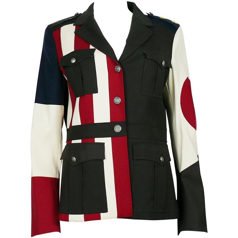Moschino Military Style Jacket Size USA 12 1