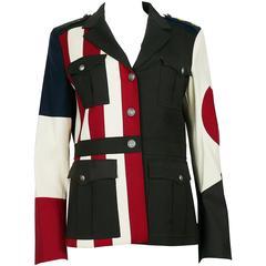 Moschino Military Style Jacket Size USA 12