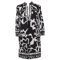 Diane Von Furstenberg black and white dress