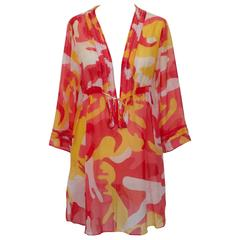 Diane Von Furstenberg Andy Warhol print dress