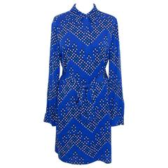 Diane Von Furstenberg blue dress