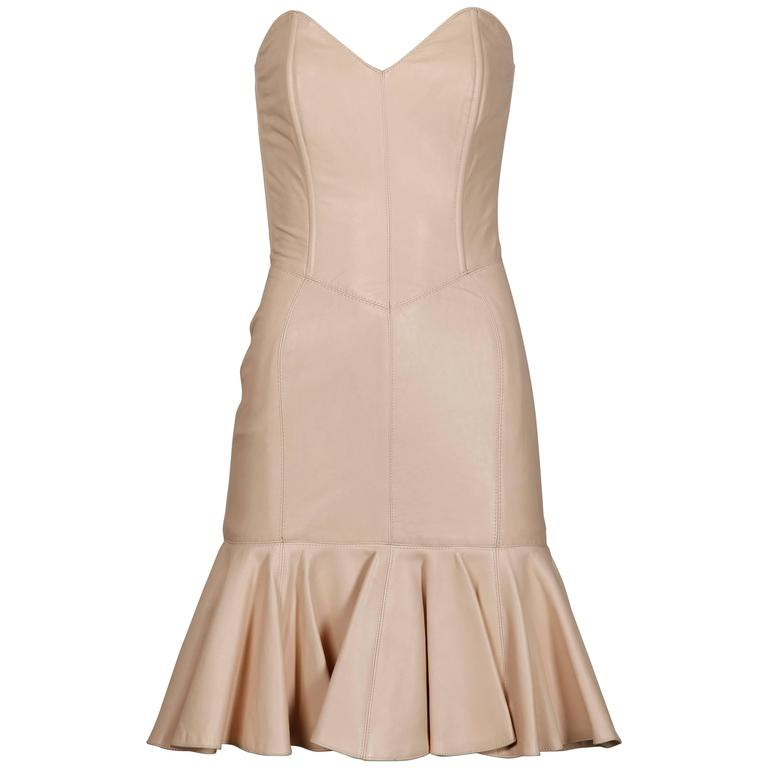 Michael Hoban for North Beach Leather Vintage Blush Pink Bustier Dress