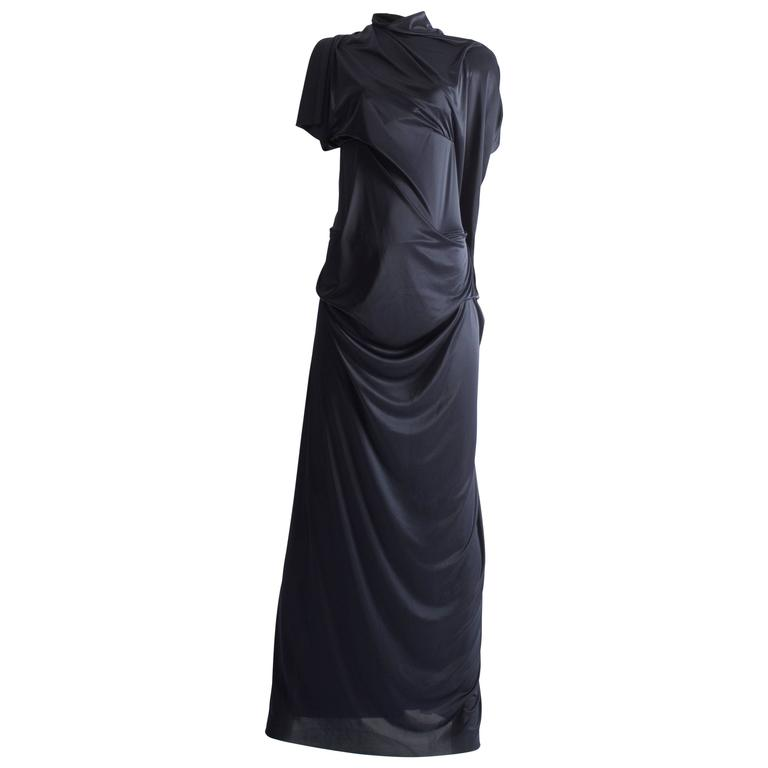 Margiela midnight blue draped evening dress, Spring-Summer 2012 2