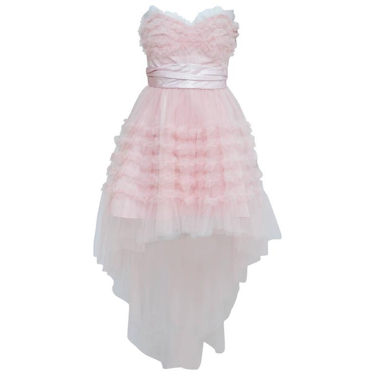"SAINT LAURENT Hedi Slimane ""Lulu"" Rose Pink Blush  Dress 38 Seen On Miranda Kerr"