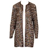 Judith Ann Vintage Sequin and Beaded Silk Cardigan Jacket
