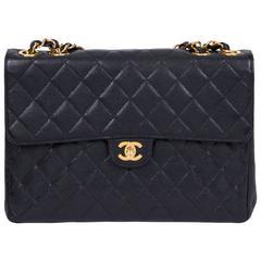 Chanel Black Caviar Jumbo Flap With Gold
