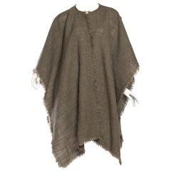 1980S ARMANI Light Weight Wool Blend Wrap Cape Shawl