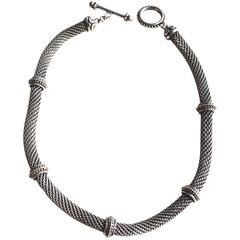 Stephen Dweck Mesh Sterling Necklace