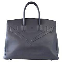 Hermes Shadow Birkin 35 Bag Ardoise Evercalf Leather Limited Edition Rare