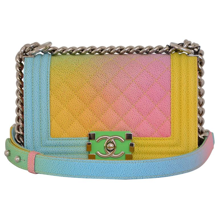 1dffbb437e6cd7 Chanel Rainbow Chanel Boy Handbag Small '17 Crossbody NEW Sold Out For Sale
