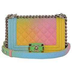 Chanel Rainbow Chanel Boy Handbag Small '17 Crossbody NEW Sold Out