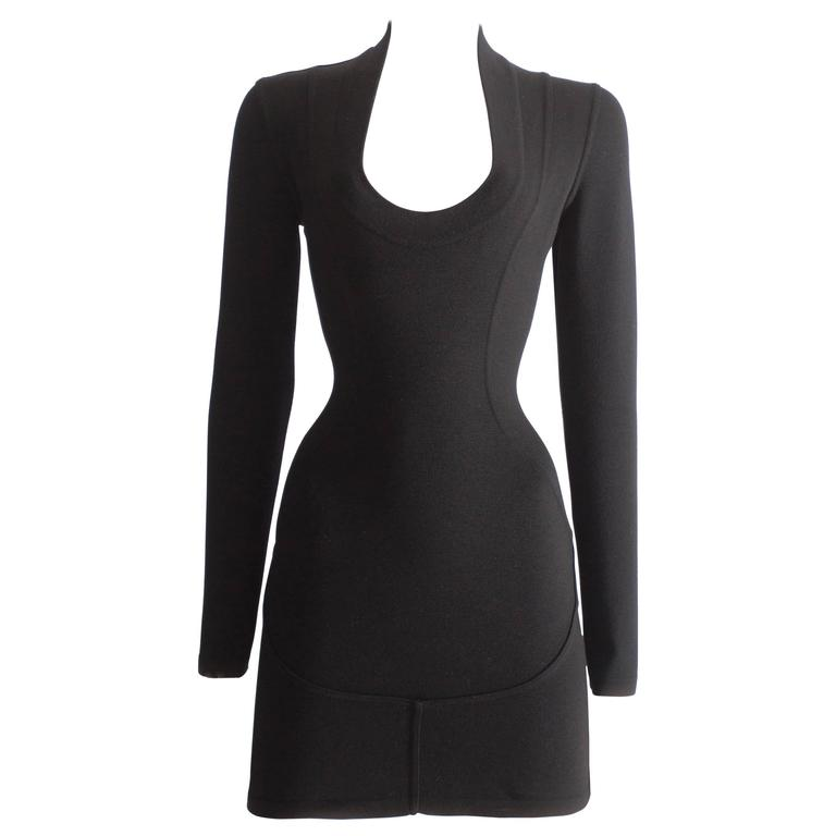Alaia bodycon wool mini dress, circa 1990s 1