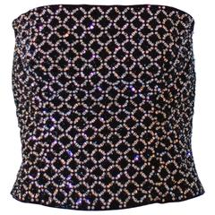 1990s Giorgio Armani Beaded Bustier Top