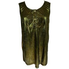 Emilio Pucci 1980s sleeveless dress blouse women's brown golden size 44