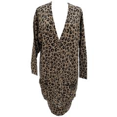 Krizia 1980s Animal Series tiger Iconic Biebe Wool and angora Jacket sz L IT