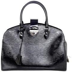 Louis Vuitton Black Electric Epi Leather Neuf GM Tote Bag rt. $3,350