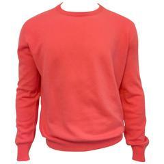 Men's Malo Cashmere Crewneck Sweater in Persimmon.