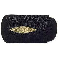 Men's Tampa Fuego Three Finger Cigar Case in Shagreen (Stingray) Skin