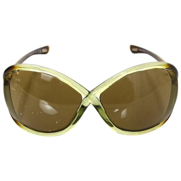 cc673c7ade Tom Ford Green Whitney Sunglasses For Sale at 1stdibs