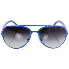 Dolce & Gabbana Blue Aviator Sunglasses