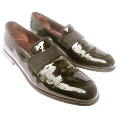 Salvatore Ferragamo Men's Black Patent Leather Dress Shoes