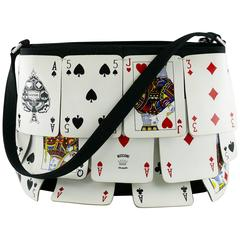 Moschino Vintage Rare Novelty Playing Cards Bag