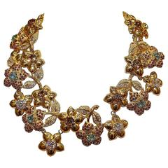 Carlo Zini Golden Floral Collier