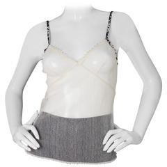 Chanel Beige Mesh Camisole sz S