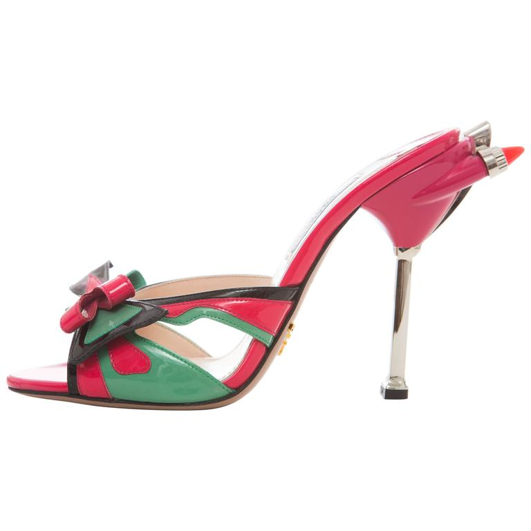 Prada Patent Leather Tail Light Sandal, Spring - Summer 2012