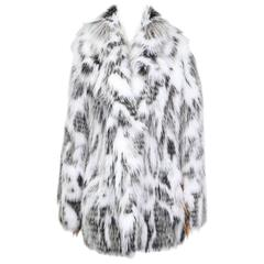Current Fendi Silver Fox and Arctic Fox Fur Coat