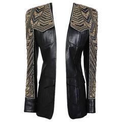 Balmain Embellished Leather Jacket, Modern