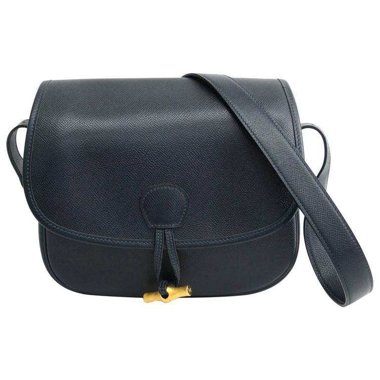 Hermes Vintage Leather Flap Crossbody Bag For