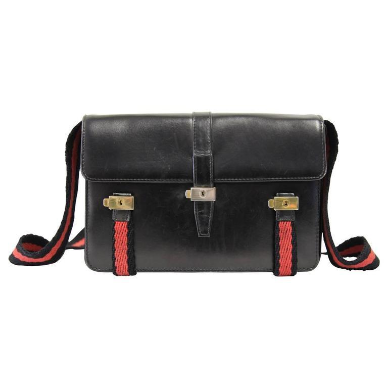 1970s Roberta di Camerino Black Leather Shoulderbag