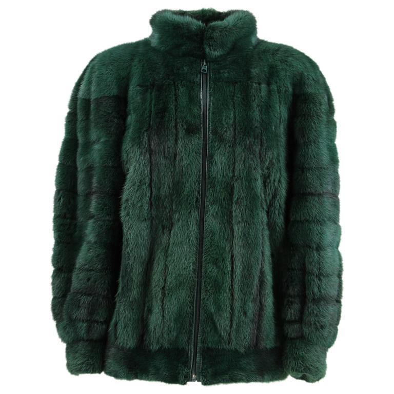 95de6641157 1980s Christian Dior Blue Mink Fur Jacket at 1stdibs