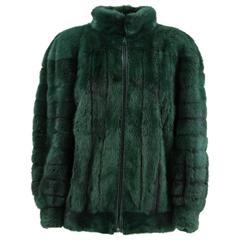 1980s Christian Dior Blue Mink Fur Jacket