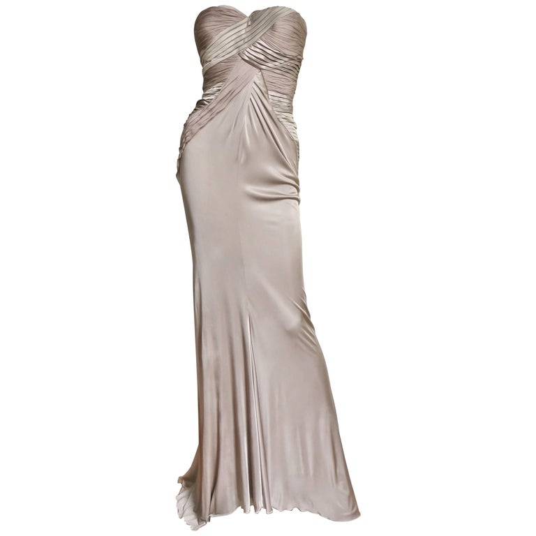 Versace Silk Strapless Dress