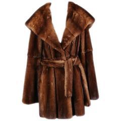 J. Mendel Medium Brown Mink Coat, Modern