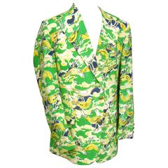 Lilly Pulitzer Men's Whimsical Seagull Print Jacket ca 1970
