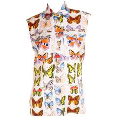 Gianni Versace S/S 1995 Butterfly Print Top