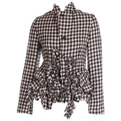 Comme Des Garcons Houndstooth Deconstructed Tartan Jacket