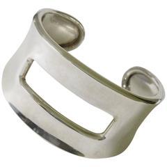 1990s Modernist Robert Lee Morris RLM Sterling Silver Cuff Bracelet