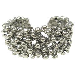 Massive Robert Lee Morris sterling silver cuff bracelet new old stock